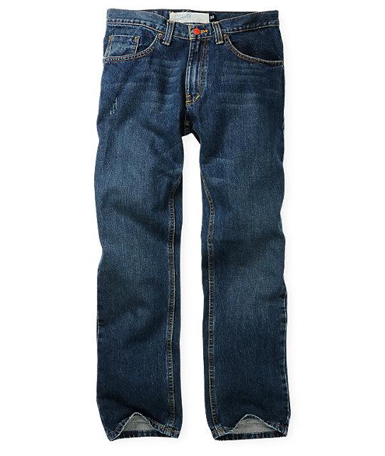 Free World Night Train Deep Sea Freeze Wash Regular Fit Jeans