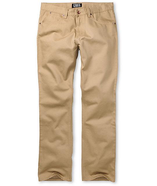 Free World Night Train Khaki Regular Fit Twill Pants