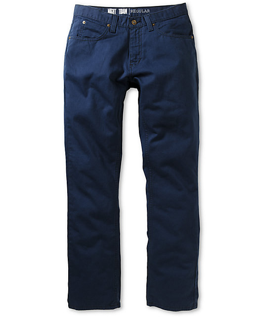 Free World Night Train Navy Twill Regular Fit Pants