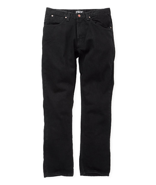 Free World Night Train Overdye Black Regular Fit Jeans