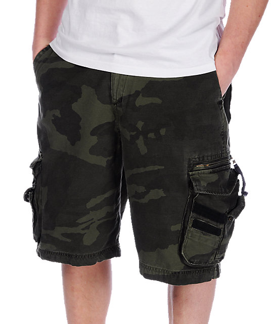Free World Norris Camo Cargo Shorts