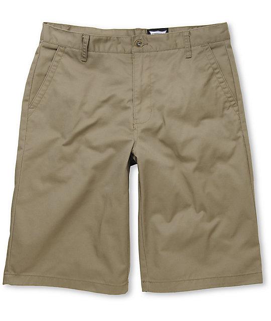 Free World Part Time Khaki Chino Shorts