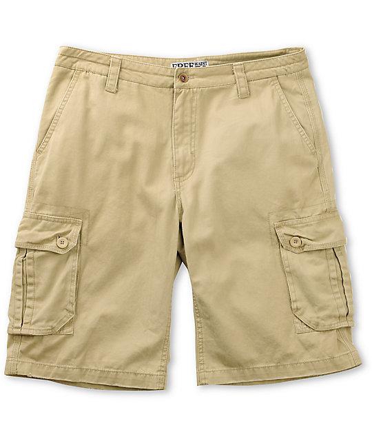Free World Possum Khaki Cargo Shorts