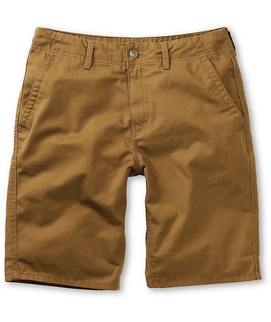 Free World Sol Dark Khaki Chino Shorts