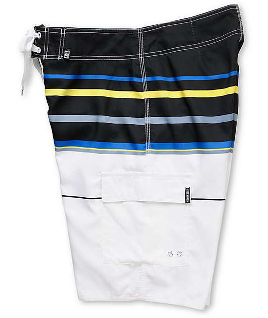 Free World Stinger Black & Yellow 21.25 Board Shorts