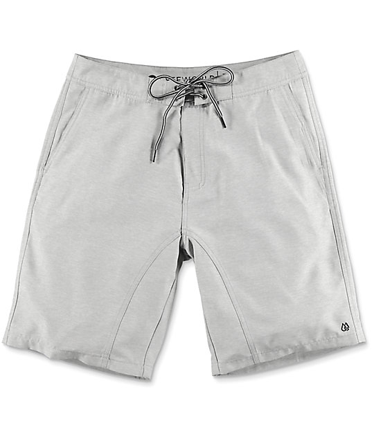 Free World Surfrider Heather Grey Hybrid Shorts