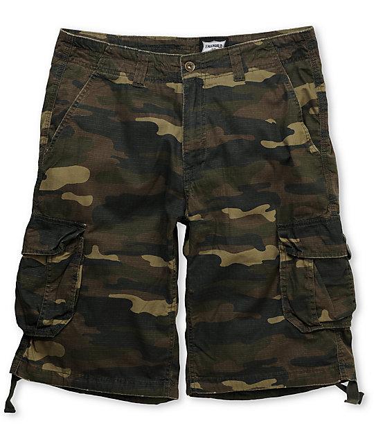 Free World Suspended Camo Ripstop Cargo Shorts