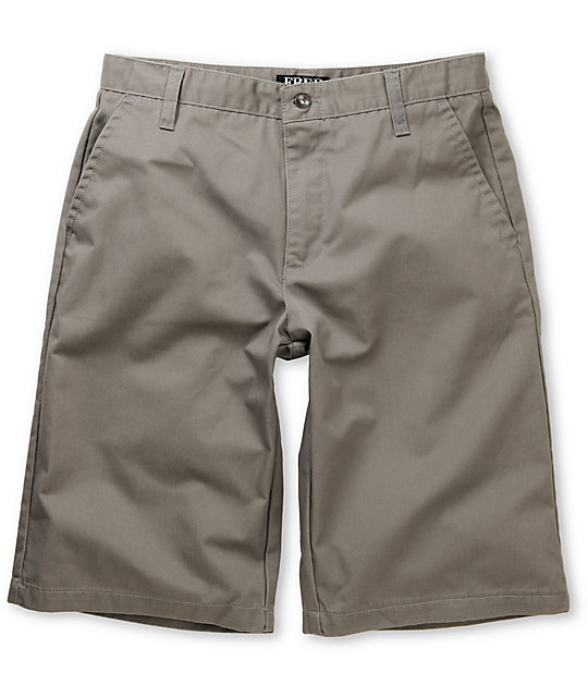 Free World Threat Grey Chino Shorts