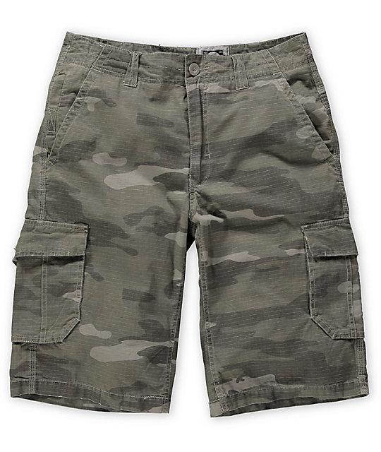 Free World Tipster Camo Ripstop Cargo Shorts