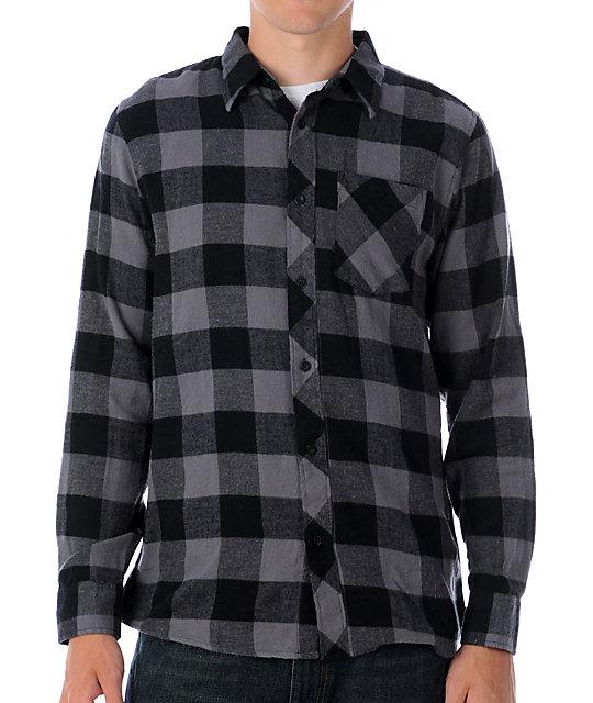 Free World Triumph Grey & Black Flannel Shirt