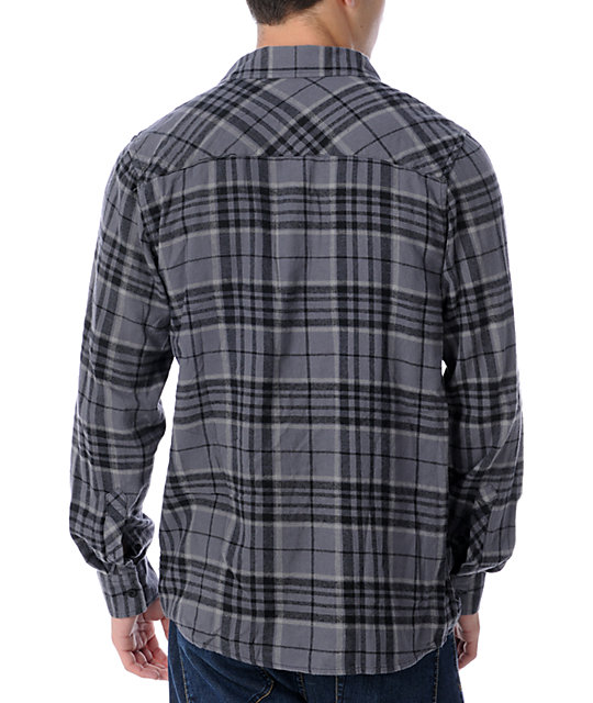 Free World Upstart Black & White Flannel Shirt