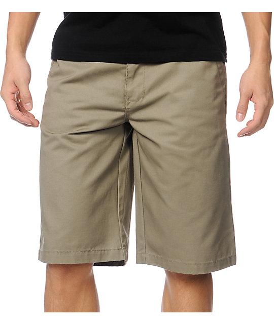 Free World Venice Khaki Chino Shorts