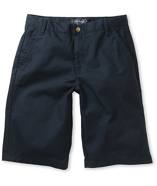 Free World Venice Navy Chino Shorts