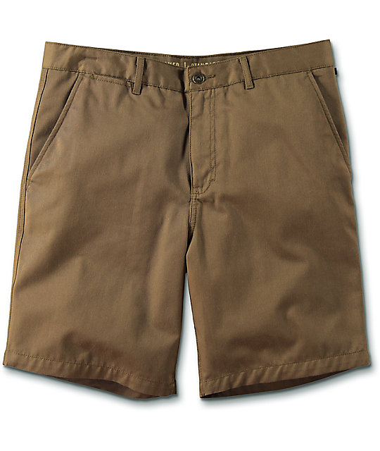 World Walker Dark Khaki Chino Shorts