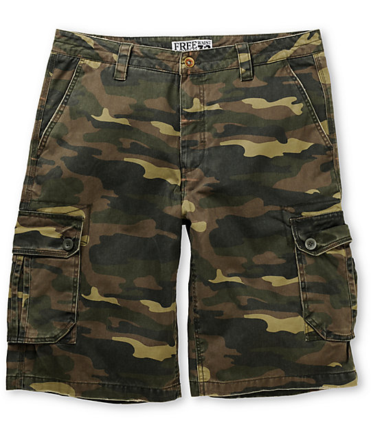 Free World Welland Camo Cargo Shorts