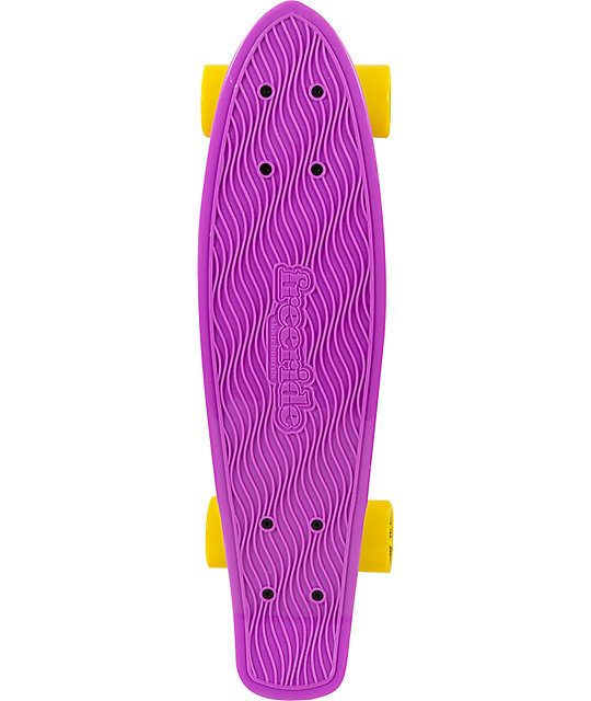 "Freeride Purple 22.5""  Recycled Mini Complete Cruiser Skateboard"