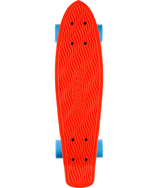 "Freeride Red 22.5""  Recycled Mini Complete Cruiser Skateboard"
