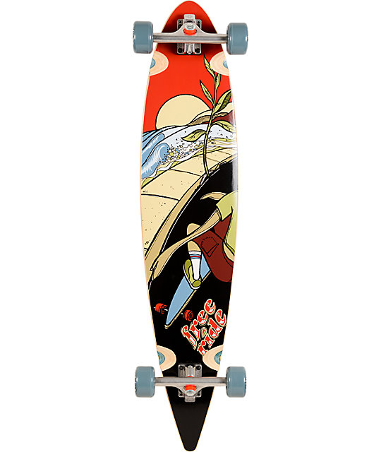 "Freeride Sprout Pintail 42""  Longboard Complete"