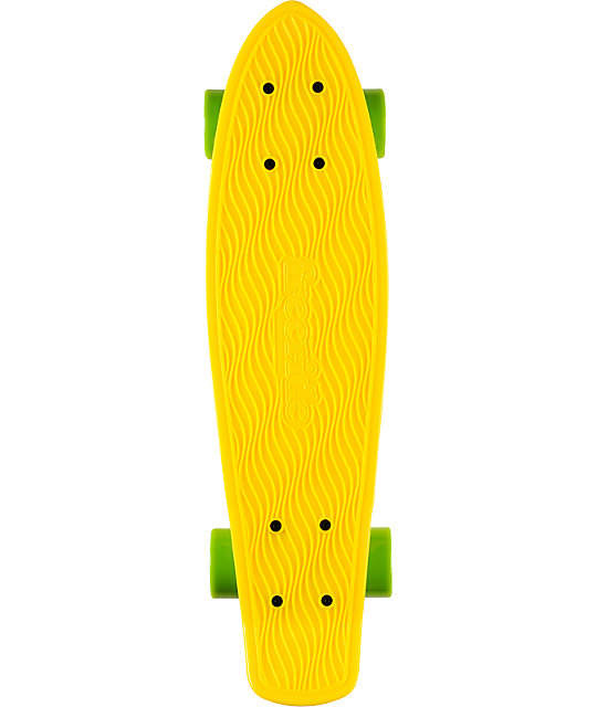 "Freeride Yellow 22.5""  Recycled Mini Complete Cruiser Skateboard"