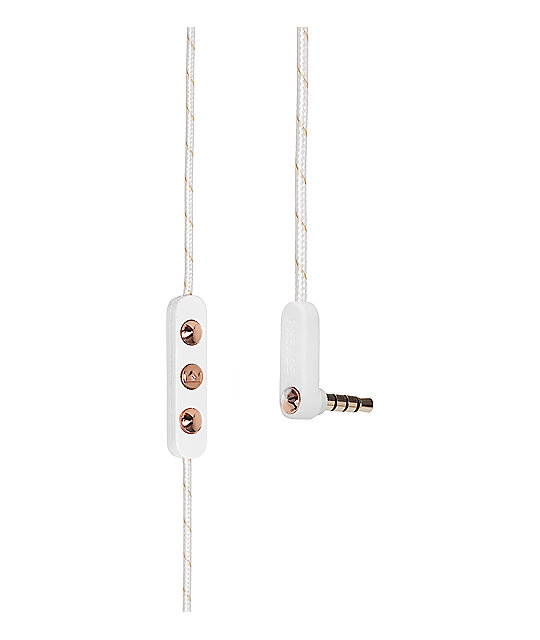 Frends Ella Rose Gold & White Earbuds