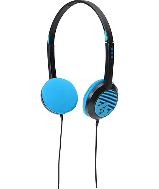 Frends The Alli Black & Blue Micd Headphones
