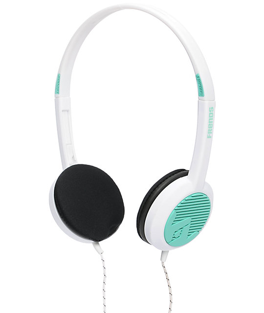 Frends The Alli White & Teal Micd Headphones