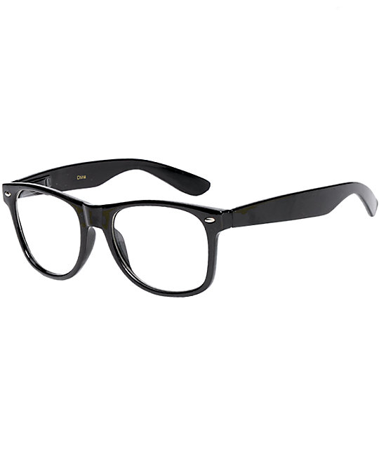 Frisky Business Black Frame Clear Sunglasses