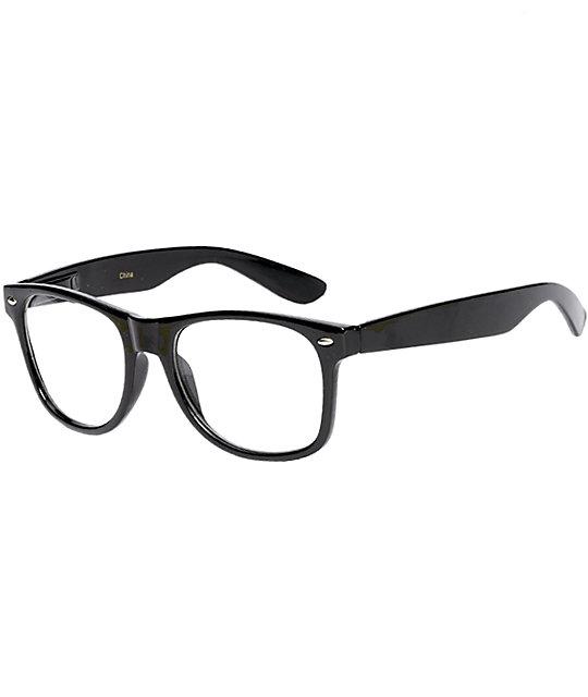Black Frame Glasses Geek : Frisky Business Black Frame Clear Sunglasses at Zumiez : PDP