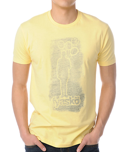 Fyasko Print Mark Yellow T-Shirt