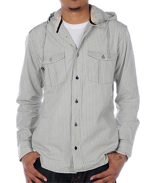 Fyasko Stalker Navy Woven Shirt