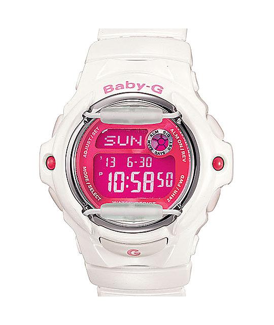 G Shock Bg169r 7d Baby G White Amp Pink Watch Zumiez