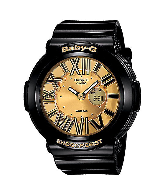 G-Shock BGA160-1B Baby-G Black & Gold Watch
