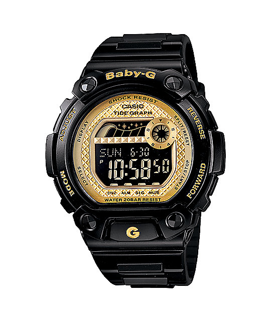 G-Shock BLX100-1C Baby-G Black & Gold Watch