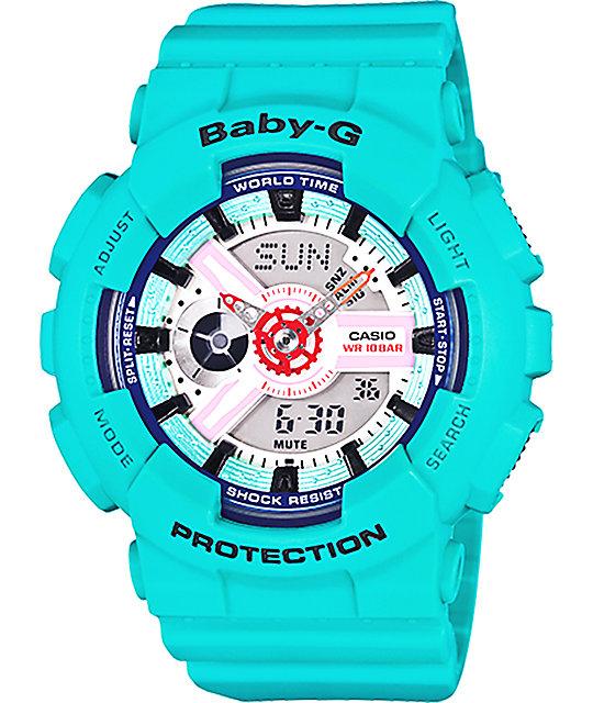 g shock baby g ba110sn 3a blue watch. Black Bedroom Furniture Sets. Home Design Ideas