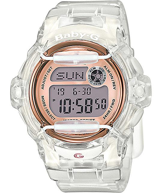 G-Shock Baby-G BG169G-7B Clear & Rose Gold Watch