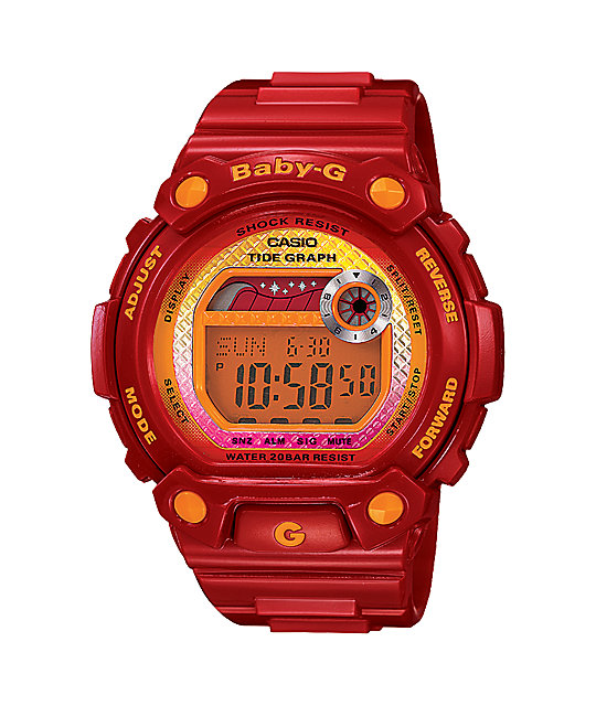 G-Shock Baby-G BLX100-4 Red G-Lide Digital Watch