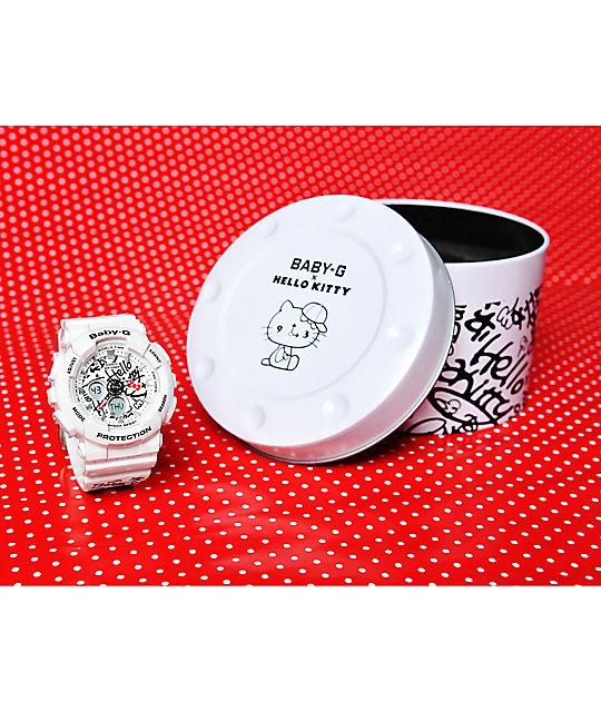 G-Shock Baby-G X Hello Kitty BA-120KT-7A White Watch