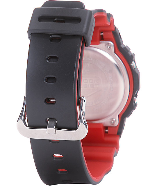G-Shock DW5600HR-1 Black & Red Layered Digital Watch