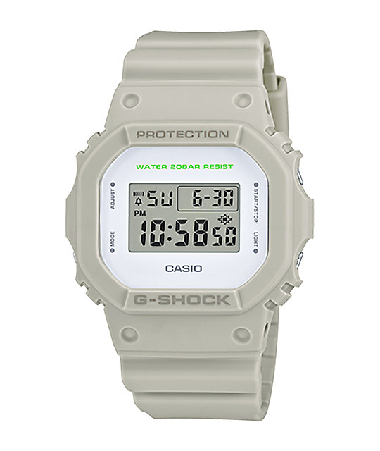 G-Shock DW5600M-2 Military White Digital Watch