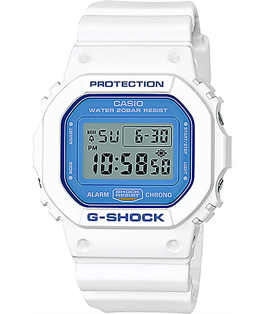 G-Shock DW5600WB-7 White & Blue Digital Watch