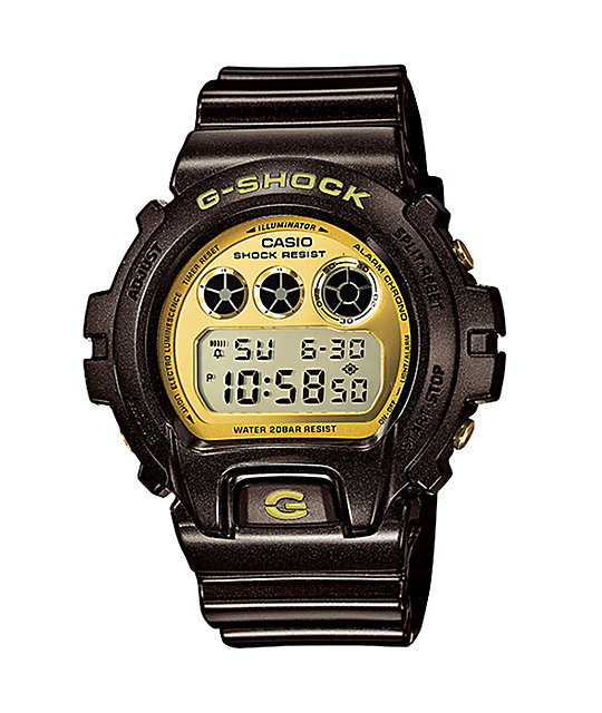 G-Shock DW6900BR-5 Garish Black & Gold Watch