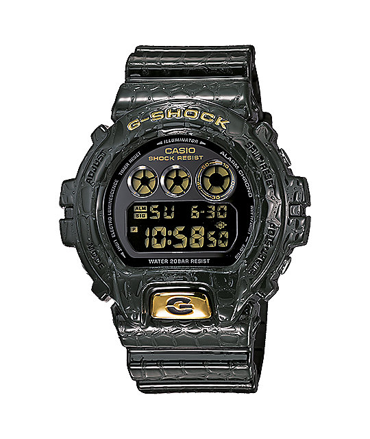 G-Shock DW6900CR-3 LTD Crocodile Texture Green Watch