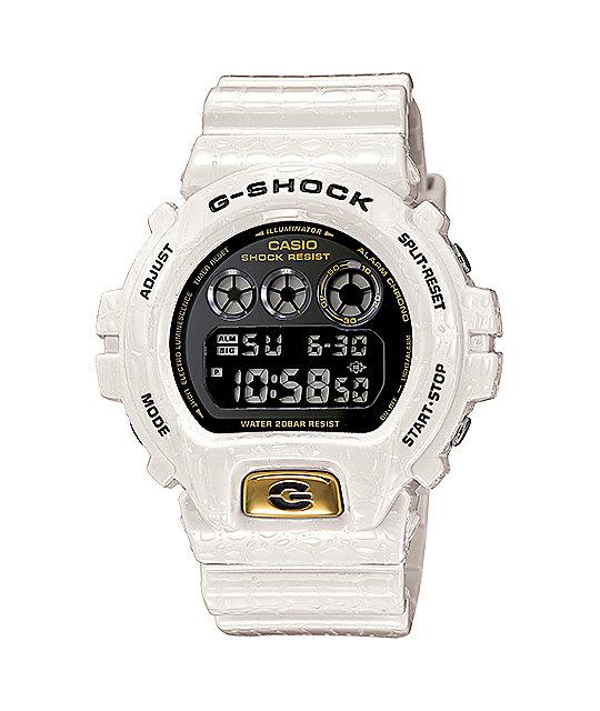 G-Shock DW6900CR-7 LTD Crocodile Texture White Watch