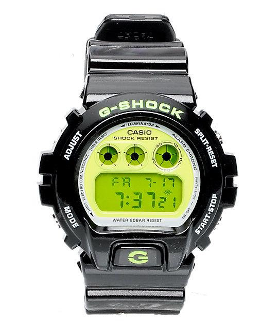 G-Shock DW6900CS-1CR Black & Lime Digital Watch