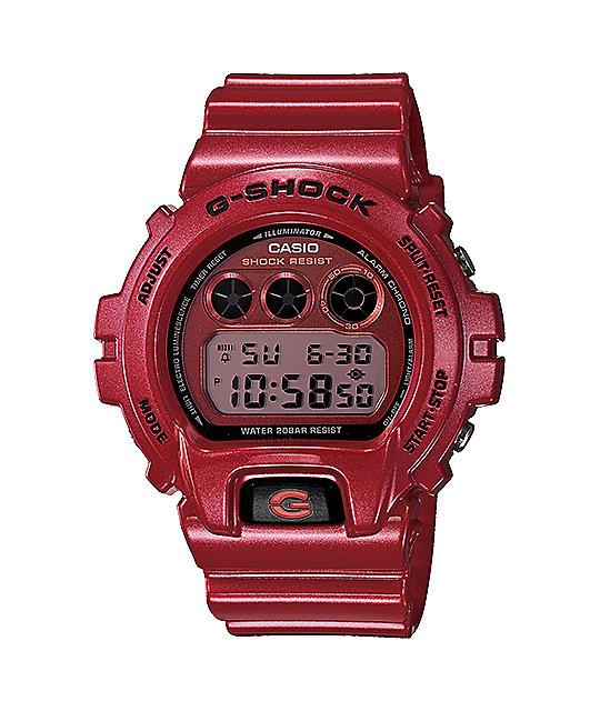G-Shock DW6900MF-4 Metallic Finish Red Watch