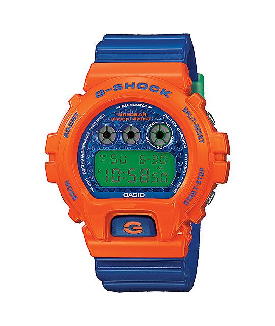 G-Shock DW6900SC-4 Crazy Color Orange & Blue Digital Watch