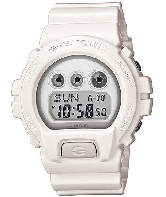 G-Shock DW6900WW-7 White Watch
