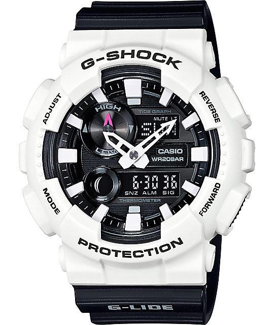 g shock g lide gax100b 7a black white analog digital watch. Black Bedroom Furniture Sets. Home Design Ideas