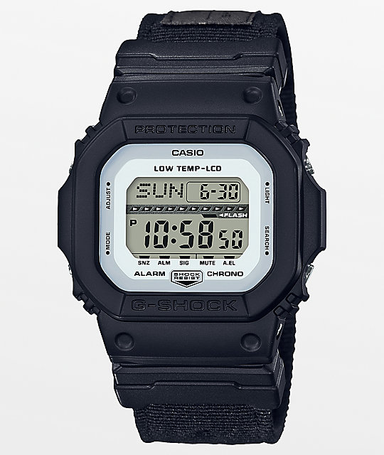 G-Shock G-Lide GLS-5600CL-1 Cloth Black Digital Watch