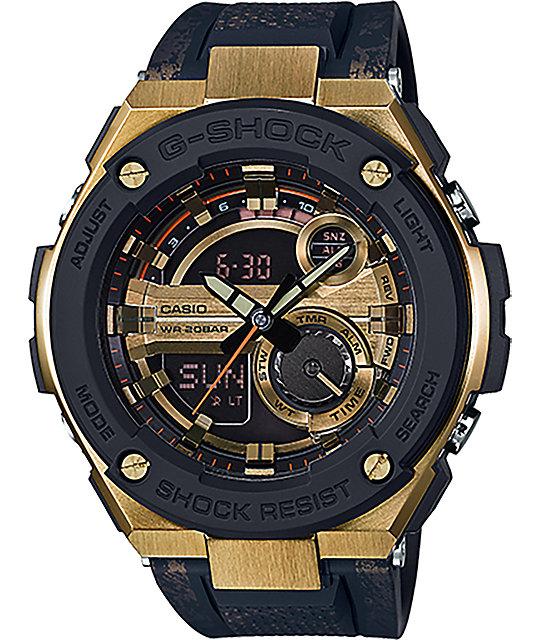 G-Shock G Steel GST-200CP-9ACR Black & Gold Watch at ...
